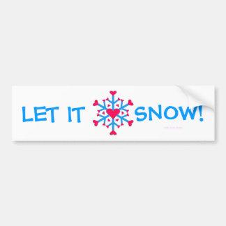 Amor de la nieve - pegatina para el parachoques