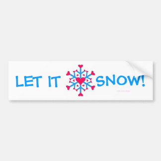 Amor de la nieve - pegatina para el parachoques pegatina para coche