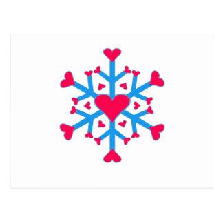 Amor de la nieve - postal - horizontal