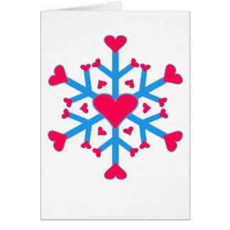 Amor de la nieve - tarjeta - vertical