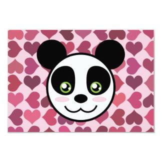 """""""Amor de la panda """" Invitación 8,9 X 12,7 Cm"""