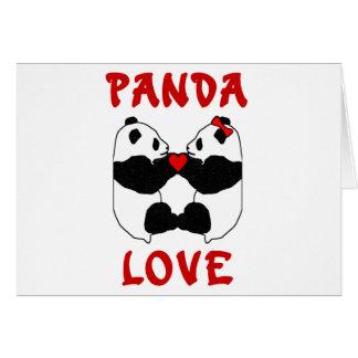 Amor de la panda tarjetas