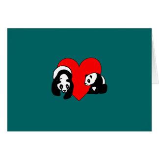 Amor de la panda felicitaciones