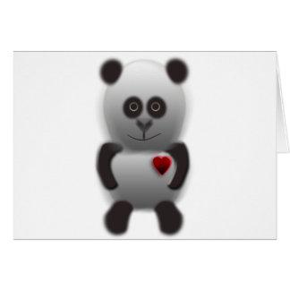 amor de la panda tarjetón
