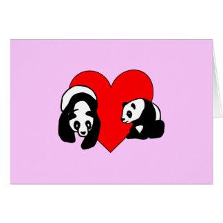 Amor de la panda felicitacion
