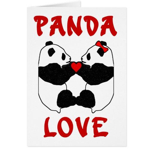 Amor de la panda felicitación