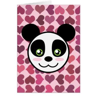 """""""Amor de la panda """" Tarjeta De Felicitación"""