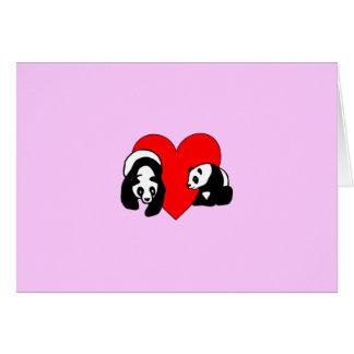 Amor de la panda tarjeta pequeña