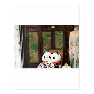 Amor de la panda tarjetas postales