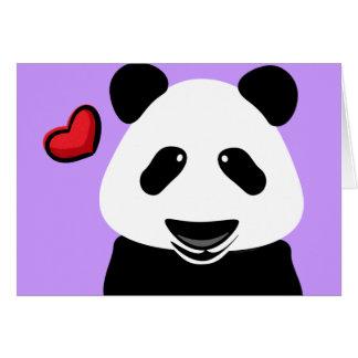 Amor de la panda usted Beary mucho moderno Tarjeta De Felicitación