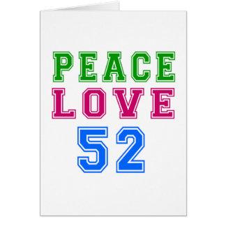 Amor de la paz 52 diseños del cumpleaños tarjeta