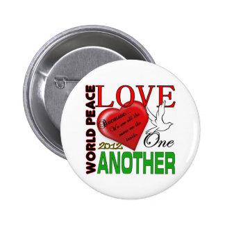 Amor de la paz de mundo un otro diseño original 20 pin
