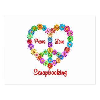 Amor de la paz de Scrapbooking Postal