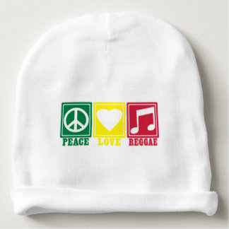 amor de la paz del reggae del rasta gorrito para bebe