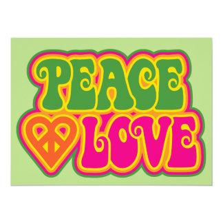Amor de la paz invitación 13,9 x 19,0 cm