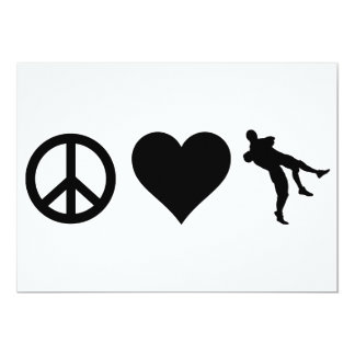 Amor de la paz que lucha invitación 12,7 x 17,8 cm