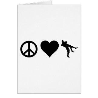 Amor de la paz que lucha tarjeta de felicitación