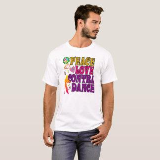 Amor de la paz y contra danza camiseta