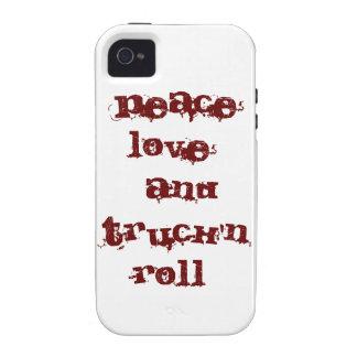 amor de la paz y rollo del truck'n vibe iPhone 4 carcasa