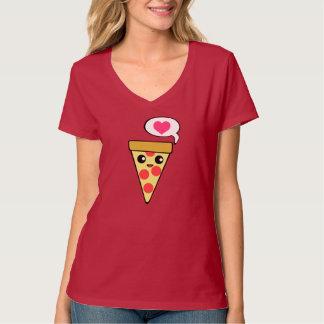 Amor de la pizza camiseta