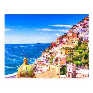 Amor de la postal de Positano Italia