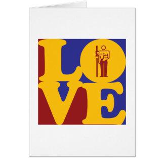 Amor de la radiología tarjetas
