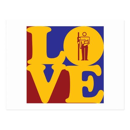Amor de la radiología tarjeta postal