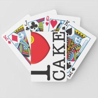 Amor de la torta barajas de cartas
