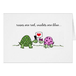 Amor de la tortuga - la tarjeta de la tarjeta del