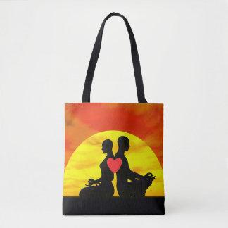 Amor de la yoga - 3D rinden Bolsa De Tela
