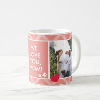 Amor de las mamáes I/We del perro usted taza de