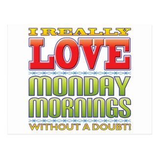 Amor de las mañanas de lunes postales