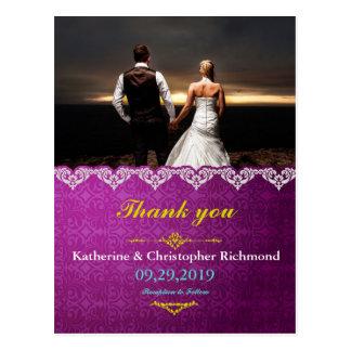 amor de las sensaciones en el boda/la púrpura de postal