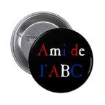 Amor de Les Misérables: Ami de l'ABC Button Chapa Redonda 5 Cm