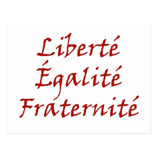Amor de Les Misérables: Liberté, Égalité, Fraterni Tarjetas Postales