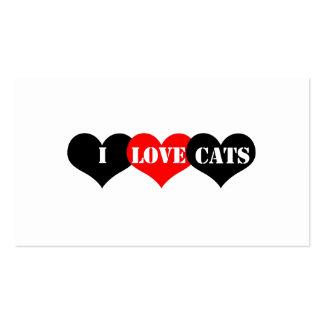 Amor de los gatos tarjeta de visita