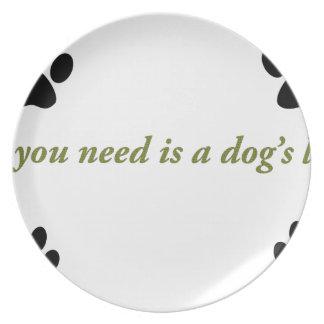 Amor de los perros plato de cena