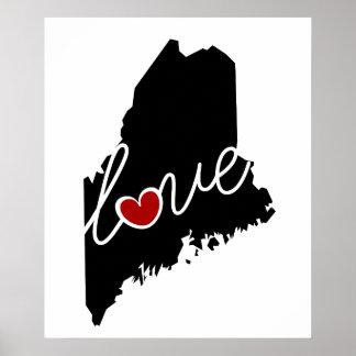 ¡Amor de Maine!  Regalos para MÍ amantes Posters