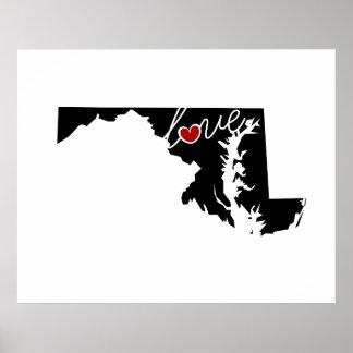 ¡Amor de Maryland!  Regalos para los amantes del Impresiones