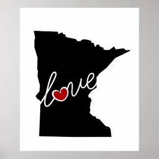 ¡Amor de Minnesota!  Regalos para los amantes del Poster