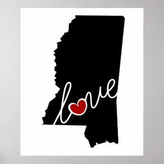 ¡Amor de Mississippi!  Regalos para los amantes Impresiones