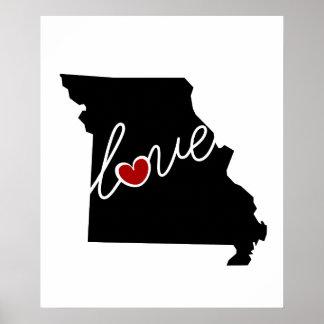 ¡Amor de Missouri!  Regalos para los amantes del Impresiones