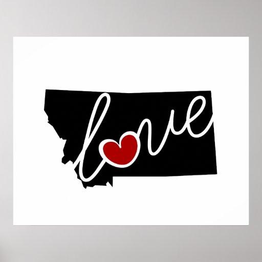 ¡Amor de Montana!  Regalos para los amantes de la Poster