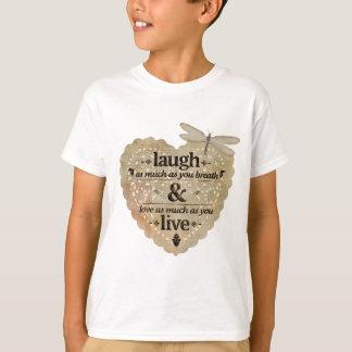 amor de motivación de la risa camiseta