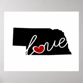 ¡Amor de Nebraska!  Regalos para los amantes del Poster