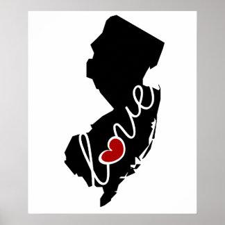 ¡Amor de New Jersey!  Regalos para los amantes de Posters