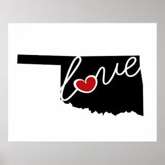¡Amor de Oklahoma!  Regalos para los amantes Impresiones
