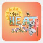 Amor de Olaf I el calor Calcomanía Cuadradas Personalizadas