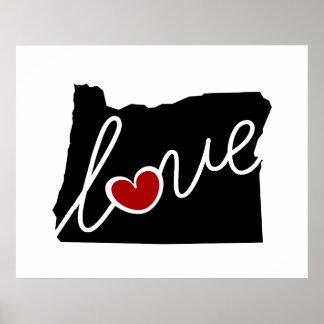 ¡Amor de Oregon!  Regalos para O amantes Impresiones