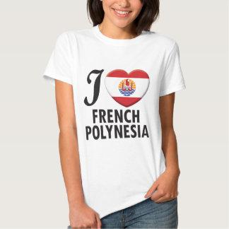Amor de Polinesia francesa Camisetas